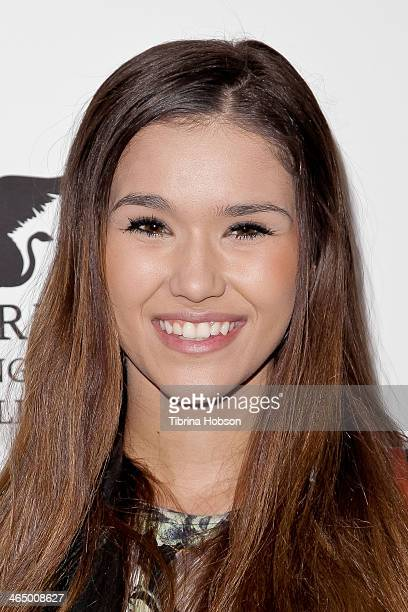 Camia Marie attends the KIIS 1027 and ALT 987 FM preGrammy party and lounge at JW Marriott Los Angeles at LA LIVE on January 24 2014 in Los Angeles...