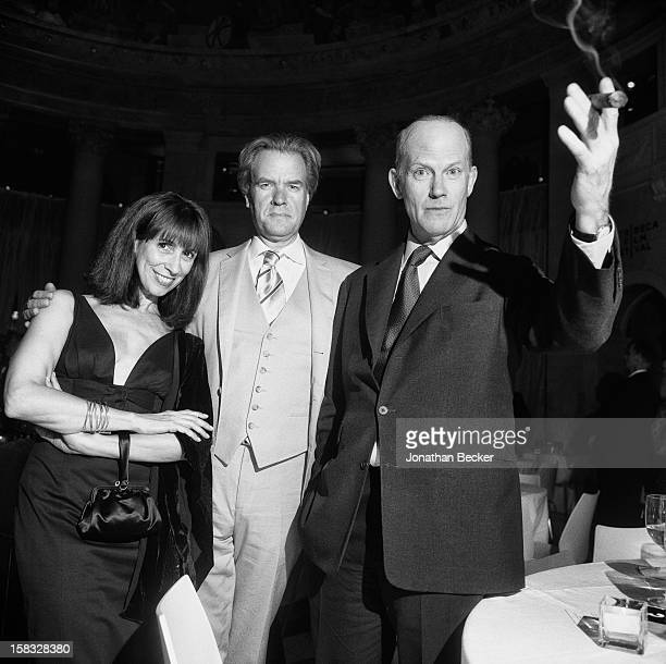 Camie Wylie, book publisher Nicholas Callaway and literary agent Andrew Wylie are photographed for Vanity Fair Magazine on April 26, 2006 at the...