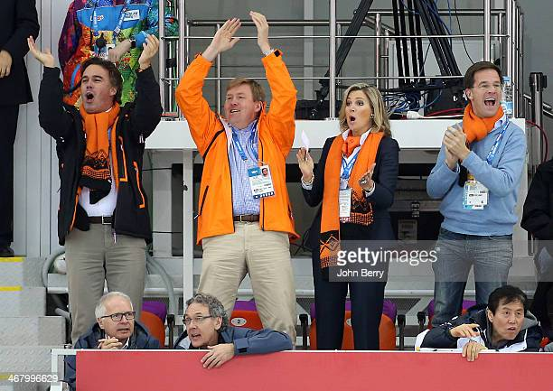 Camiel Eurlings, IOC member and CEO of KLM, King Willem-Alexander of the Netherlands, Queen Maxima of the Netherlands and Mark Rutte, Prime Minister...