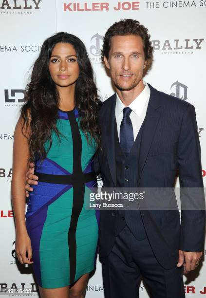 Camila Alves and actor Matthew McConaughey attend the Cinema Society with Bally DeLeon hosted screening of LD Entertainment's Killer Joe at the...