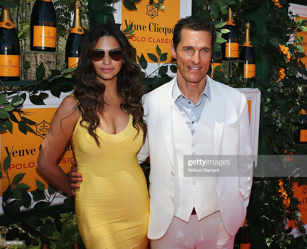 Camila Alves and actor Matthew McConaughey attend the sixth annual Veuve Clicquot Polo Classic on June 1, 2013 in Jersey City.