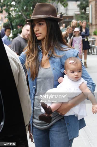 Camila Alves and daughter Vida McConaughey sighting in Tibeca on June 16 2010 in New York
