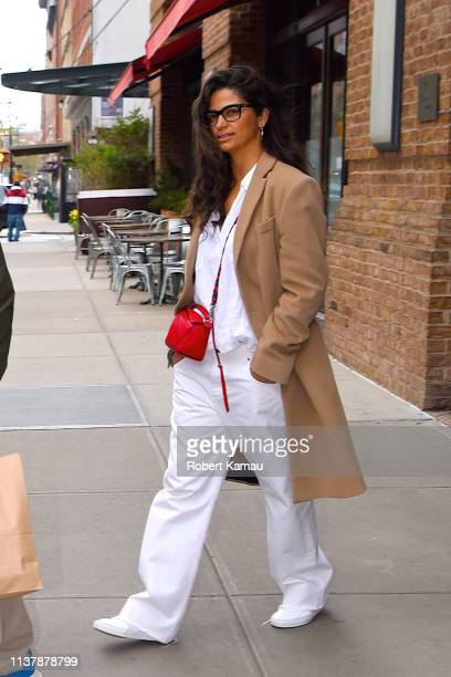 Camila Alves and her family seen out and about in Manhattan on April 18 2019 in New York City