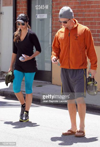 Camila Alves and Matthew McConaughey are seen on July 13 2010 in Los Angeles California