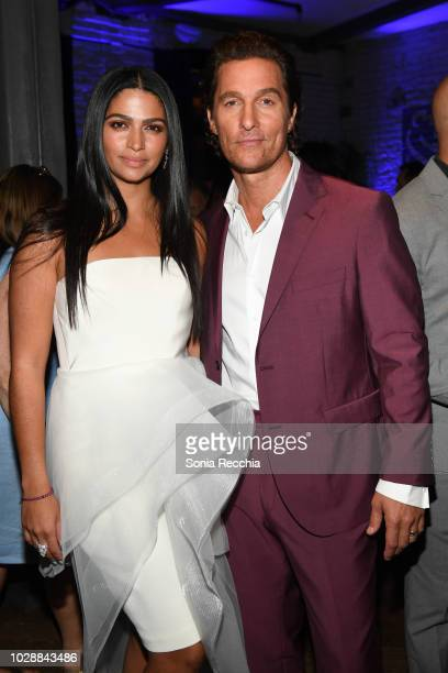 Camila Alves and Matthew McConaughey attend RBC hosted White Boy Rick cocktail Party At RBC House Toronto Film Festival on September 7 2018 in...