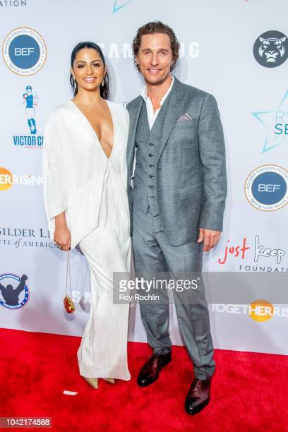 Camila Alves and Matthew McConaughey attend the 2018 Samsung Charity Gala at The Manhattan Center on September 27 2018 in New York City