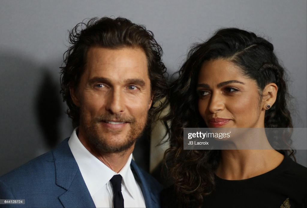 Camila Alves and Matthew McConaughey attend the 20th Annual Hollywood Film Awards on November 6, 2016 in Los Angeles, California.