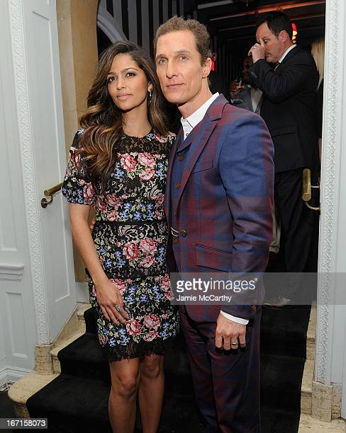 """Camila Alves and Matthew McConaughey attend the after party for The Cinema Society with FIJI Water & Levi's screening of """"Mud"""" at Harlow on April 21,..."""