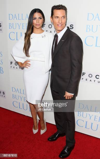 Camila Alves and Matthew McConaughey attend the 'Dallas Buyers Club' Los Angeles premiere held at the Academy of Motion Picture Arts and Sciences on...