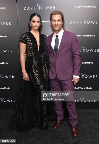 Camila Alves and Matthew McConaughey attend The Dark Tower New York Premiere on July 31 2017 in New York City