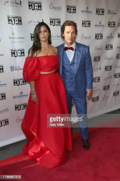 Camila Alves and Matthew McConaughey attend the MJ&M Charity Gala at ACL Live on April 25, 2019 in Austin, Texas.