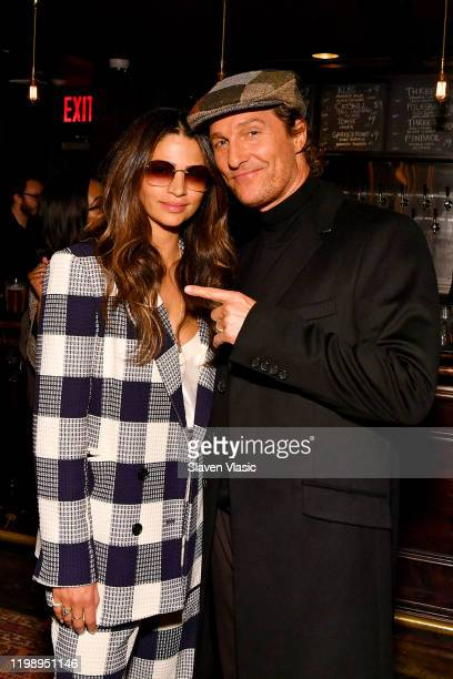 """Camila Alves and Matthew McConaughey attend the Special NY Screening of """"The Gentlemen"""" at the Alamo Drafthouse on January 11, 2020 in New York City."""
