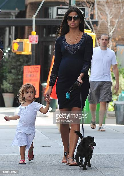 Camila Alves and Vida Alves McConaughey are seen in tribeca at Streets of Manhattan on August 26, 2012 in New York City.
