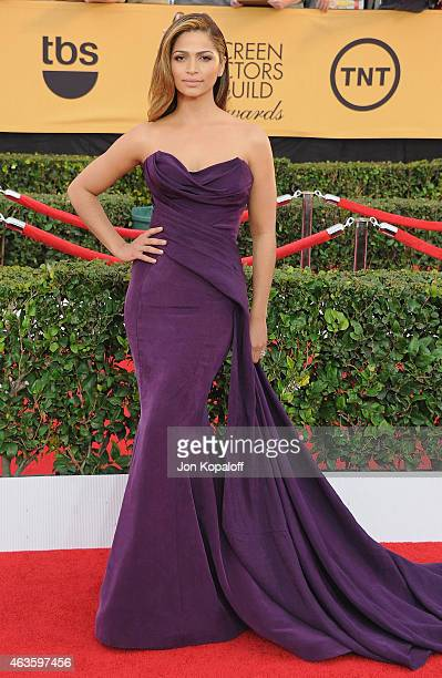 Camila Alves arrives at the 21st Annual Screen Actors Guild Awards at The Shrine Auditorium on January 25 2015 in Los Angeles California