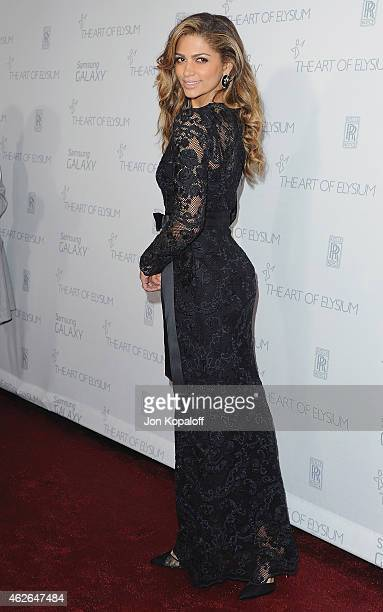 Camila Alves arrives at The Art Of Elysium 8th Annual Heaven Gala at Hangar 8 on January 10, 2015 in Santa Monica, California.