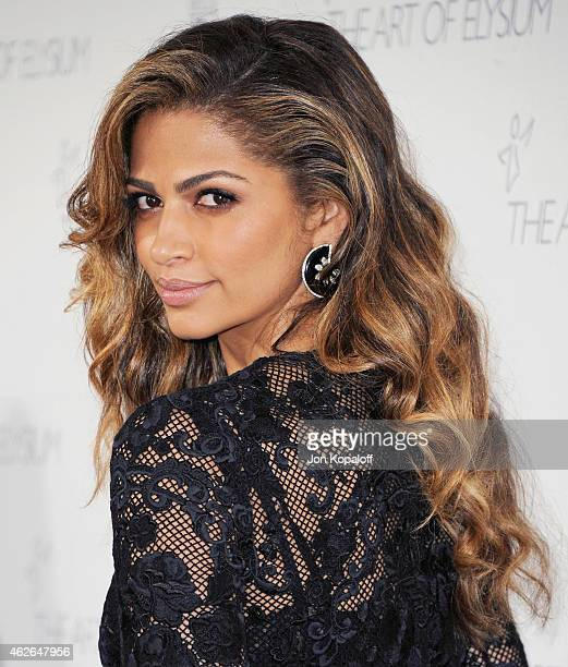 Camila Alves arrives at The Art Of Elysium 8th Annual Heaven Gala at Hangar 8 on January 10 2015 in Santa Monica California