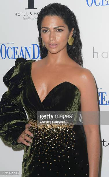 Camila Alves attends as Ocean Drive Magazine celebrates her November cover at 1 Hotel and Homes on November 9 2017 in Miami Beach Florida