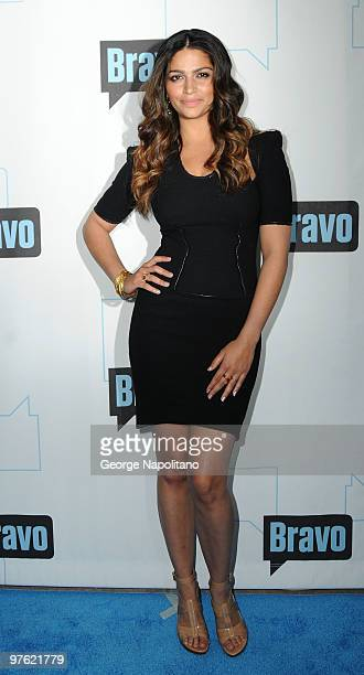 Camila Alves attends Bravo's 2010 Upfront Party at Skylight Studio on March 10 2010 in New York City