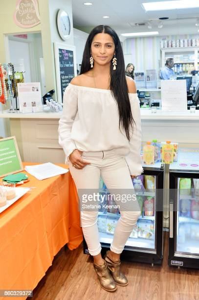 Camila Alves attends First Foods 101/Yummy Spoonfuls at Pump Station Nurtury on October 11 2017 in Los Angeles California
