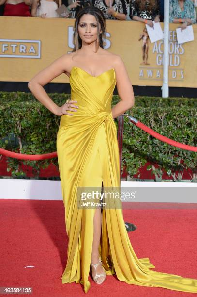 Camila Alves attends the 20th Annual Screen Actors Guild Awards at The Shrine Auditorium on January 18, 2014 in Los Angeles, California.