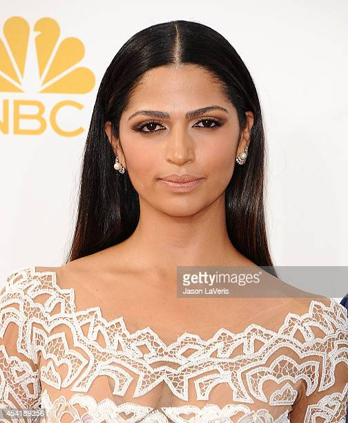 Camila Alves attends the 66th annual Primetime Emmy Awards at Nokia Theatre LA Live on August 25 2014 in Los Angeles California