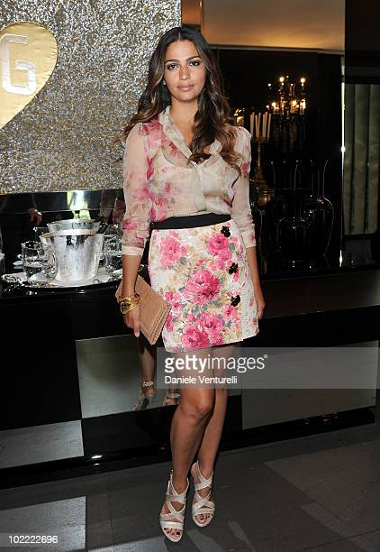 Camila Alves attends the Dolce Gabbana VIP Room prior to the Dolce Gabbana Milan Menswear Spring/Summer 2011 show on June 19 2010 in Milan Italy