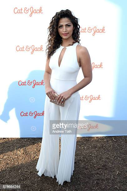 Camila Alves attends the Target launch of Cat and Jack at Brooklyn Bridge Park on July 21 2016 in New York City