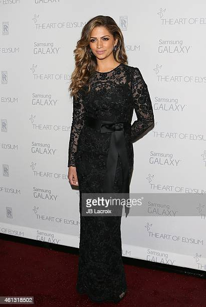 Camila Alves attends the The Art Of Elysium 8th Annual Heaven Gala at Hangar 8 on January 10 2015 in Santa Monica California