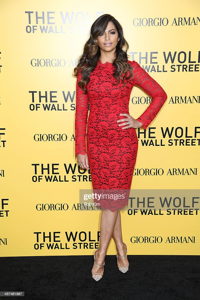 Camila Alves attends the 'The Wolf Of Wall Street' premiere at Ziegfeld Theater on December 17, 2013 in New York City.