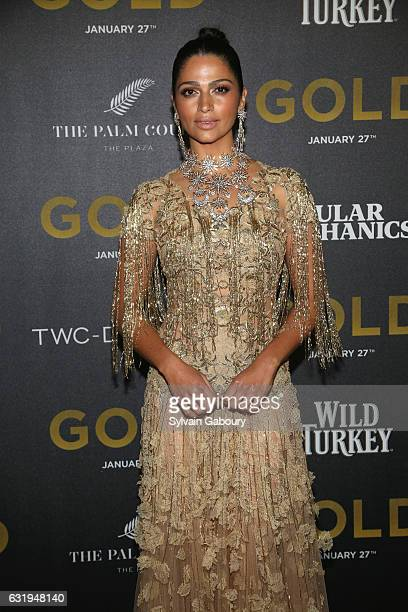 Camila Alves attends TWCDimension with Popular Mechanics The Palm Court Wild Turkey Bourbon Host the Premiere of Gold at AMC Loews Lincoln Square on...