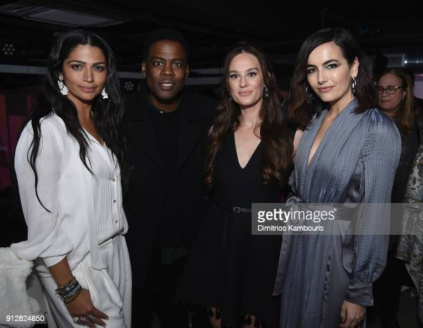 Camila Alves Chris Rock Sofia Ek and Camilla Belle attends 'The Minefield Girl' Audio Visual Book Launch at Lightbox on January 31 2018 in New York...