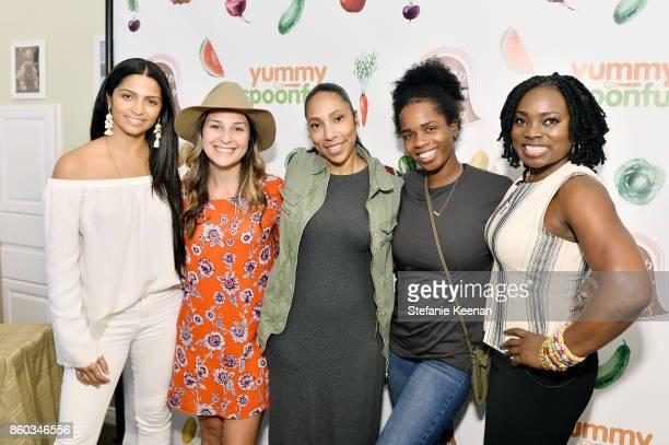 Camila Alves Elyse Manion Kelly McKnight Ashley Chea and Agatha Achindu attend First Foods 101/Yummy Spoonfuls at Pump Station Nurtury on October 11...