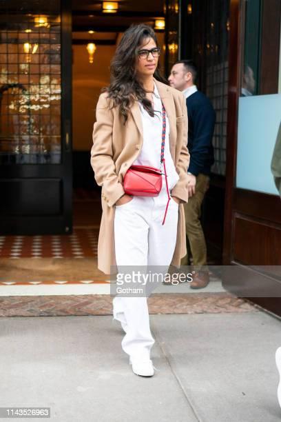 Camila Alves is seen in Tribeca on April 18 2019 in New York City