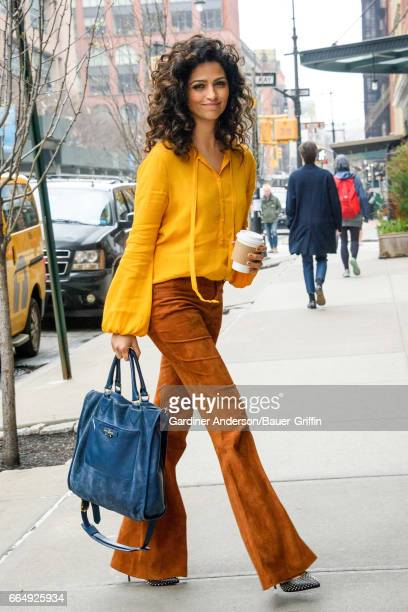 Camila Alves is seen on April 05 2017 in New York City