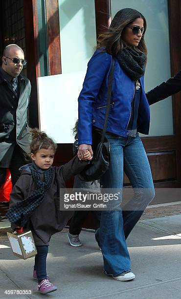 Camila Alves is seen with her daughter, Vida Alves McConaughey on March 15, 2013 in New York City.