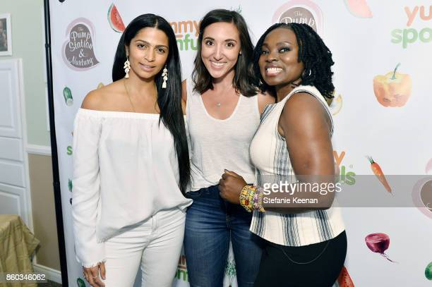 Camila Alves Jacqui Saldana and Agatha Achindu attend First Foods 101/Yummy Spoonfuls at Pump Station Nurtury on October 11 2017 in Los Angeles...