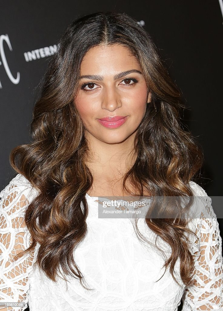 Camila Alves makes an appearance at Macys Aventura on March 16, 2013 in Miami, Florida.