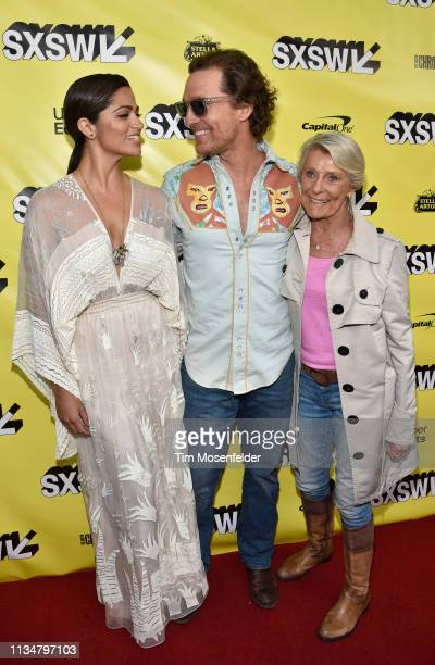 Camila Alves Matthew McConaughey and Kay McConaughey attend the premiere of The Beach Bum during the 2019 SXSW Conference and Festival at the...