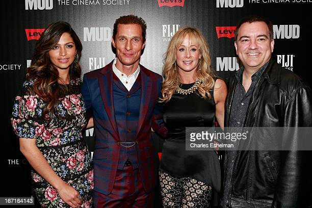 Camila Alves Matthew McConaughey Andra Liemandt and Joe Liemandt attend The Cinema Society with FIJI Water Levi's screening of 'Mud' at The Museum of...