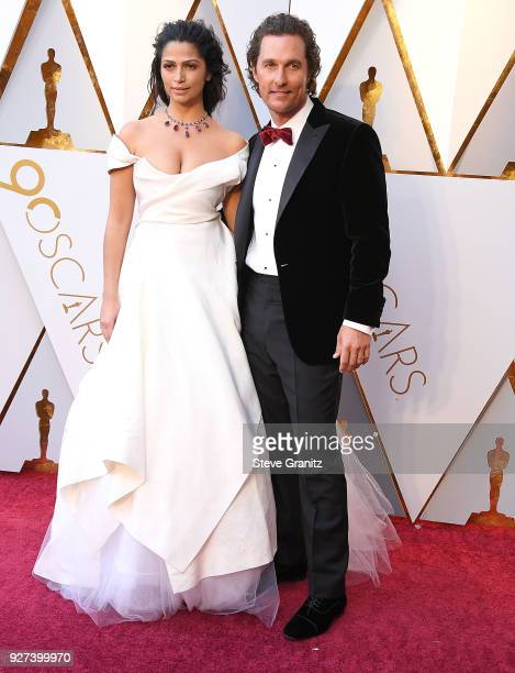 Camila Alves Matthew McConaughey arrives at the 90th Annual Academy Awards at Hollywood Highland Center on March 4 2018 in Hollywood California