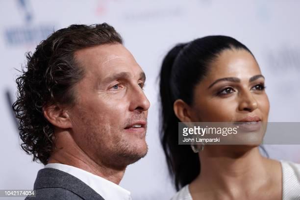 Camila Alves McConaughey and Matthew McConaugheyattend 2018 Samsung Charity Gala at The Manhattan Center on September 27 2018 in New York City