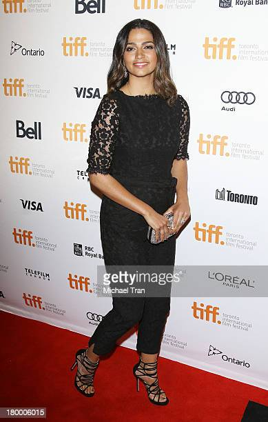 Camila Alves McConaughey arrives at the Dallas Buyers Club premiere during the 2013 Toronto International Film Festival held at Princess of Wales...