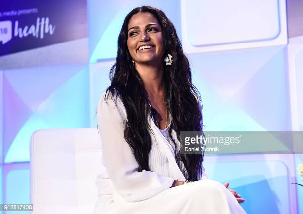 Camila Alves McConaughey attends the #BlogHer18 Health Conference at Tribeca 360 on January 31, 2018 in New York City.