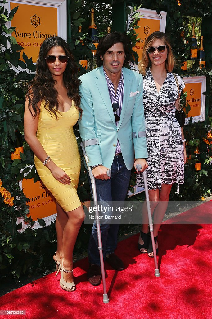 Camila Alves, Nacho Figueras and Delfina Blaquier attend the sixth annual Veuve Clicquot Polo Classic on June 1, 2013 in Jersey City.