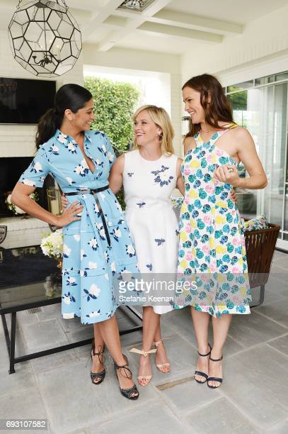 Camila Alves Reese Witherspoon and Jennifer Garner attend NETAPORTER x Draper James Event on June 6 2017 in Beverly Hills California