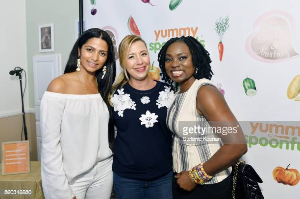 Camila Alves Roxy Manning and Agatha Achindu attend First Foods 101/Yummy Spoonfuls at Pump Station Nurtury on October 11 2017 in Los Angeles...