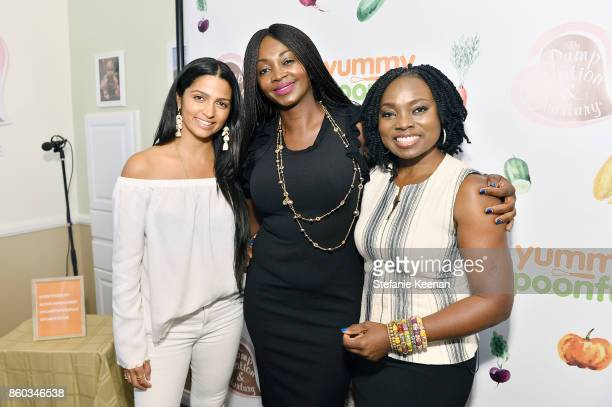 Camila Alves Sheila Herry and Agatha Achindu attend First Foods 101/Yummy Spoonfuls at Pump Station Nurtury on October 11 2017 in Los Angeles...