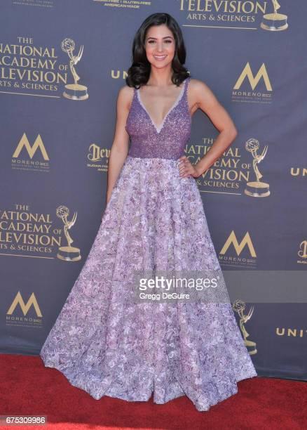 Camila Banus arrives at the 44th Annual Daytime Emmy Awards at Pasadena Civic Auditorium on April 30 2017 in Pasadena California