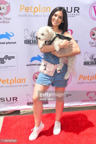 Camila Banus attends 4th Annual World Dog Day at West Hollywood Park on May 18, 2019 in West Hollywood, California.