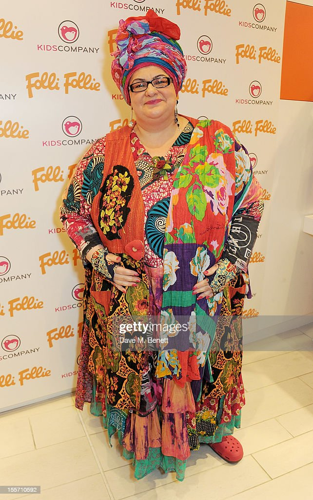 Camila Batmanghelidjh attends the Folli Follie and Kids Company Collection launch hosted by Erin O'Connor at the Folli Follie New Bond Street boutique on November 7, 2012 in London, England.